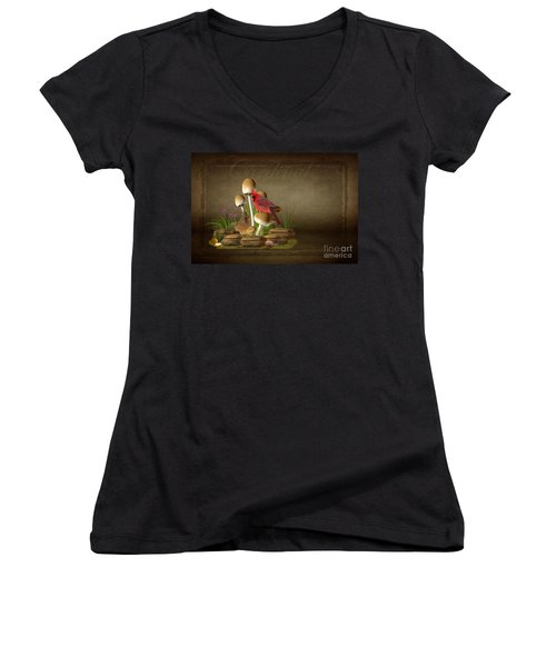 The Cardinal Women's V-Neck (Athletic Fit)