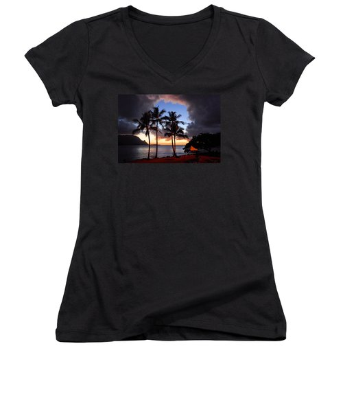 Women's V-Neck T-Shirt (Junior Cut) featuring the photograph The Center Of The Storm by Lynn Bauer