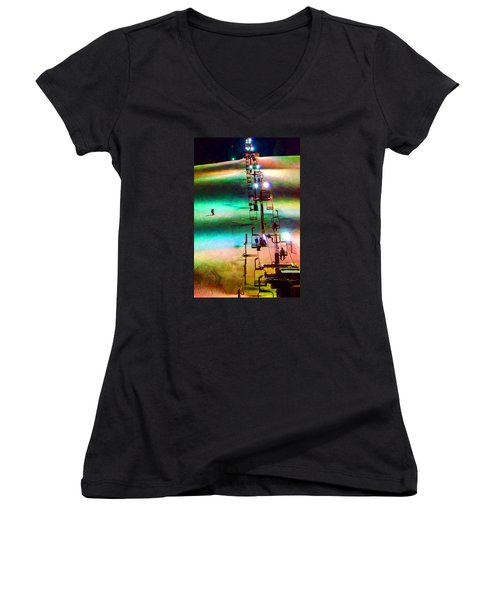 The Color  Of Fun  Women's V-Neck T-Shirt (Junior Cut) by Susan  McMenamin