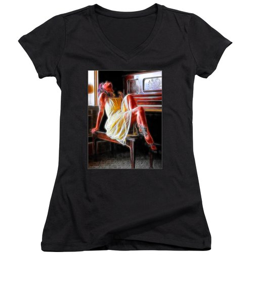 The Color Of Music Women's V-Neck (Athletic Fit)