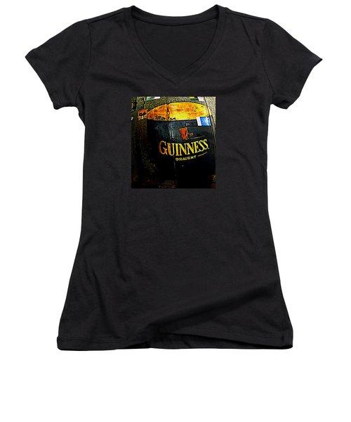 The Cooler Women's V-Neck T-Shirt (Junior Cut) by Chris Berry