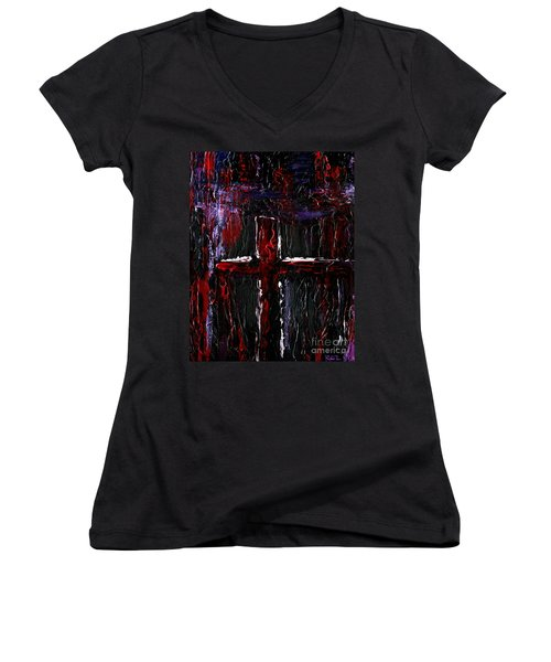 The Crossroads #1 Women's V-Neck (Athletic Fit)