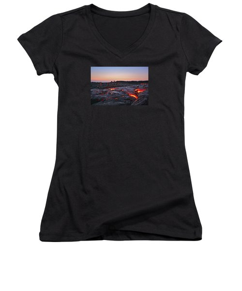 The Dawn Of Time Women's V-Neck (Athletic Fit)