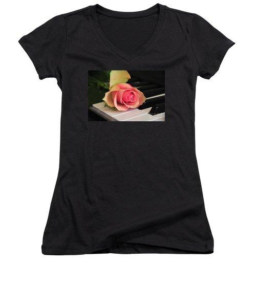 The Delicate Rose Women's V-Neck