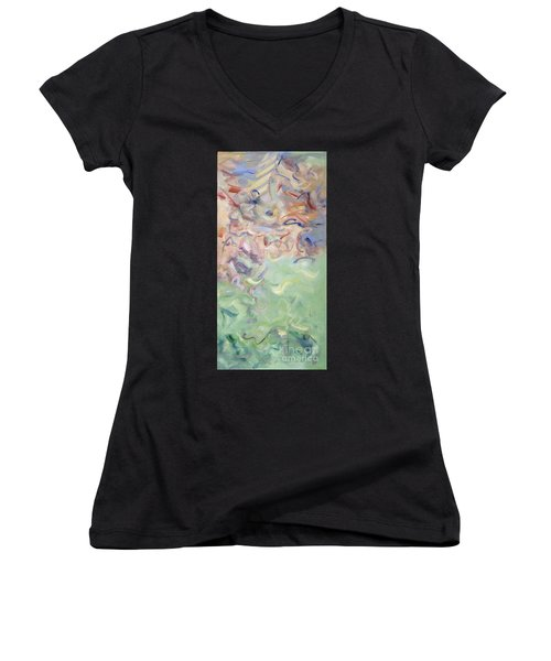 The Dream Stelae - Thutmose I Women's V-Neck (Athletic Fit)