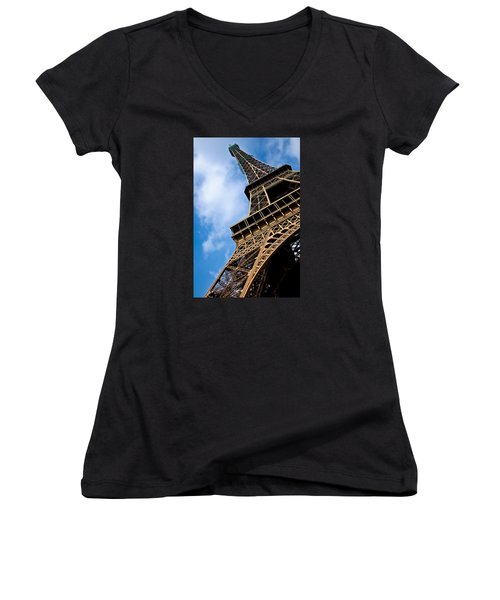 The Eiffel Tower From Below Women's V-Neck T-Shirt