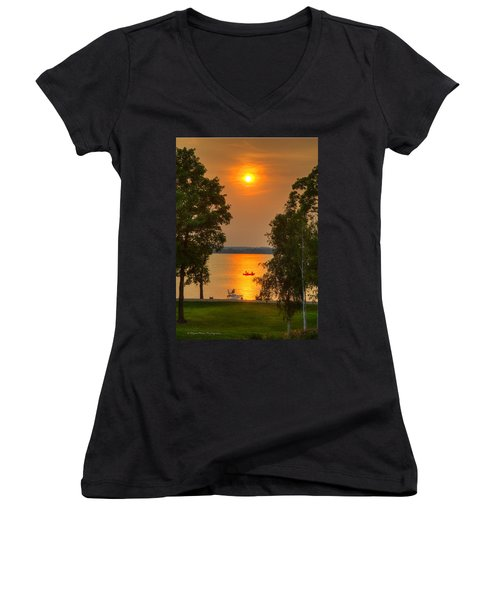 The End Of A Perfect Day Women's V-Neck (Athletic Fit)