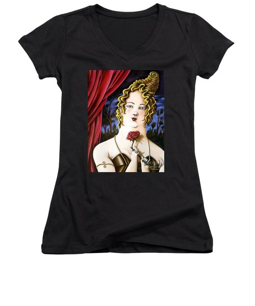 the Forgotten Woman Women's V-Neck (Athletic Fit)
