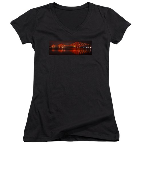 Reflections In Red Women's V-Neck