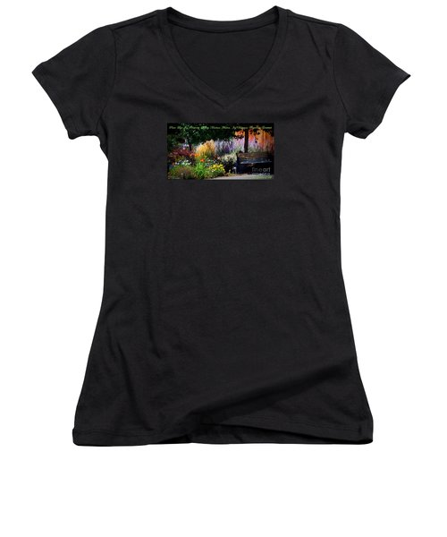 The Garden Of Life Women's V-Neck T-Shirt (Junior Cut) by Bobbee Rickard