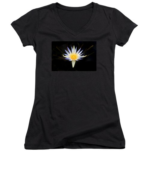 Women's V-Neck T-Shirt (Junior Cut) featuring the photograph The Golden Chalice by Marion Cullen