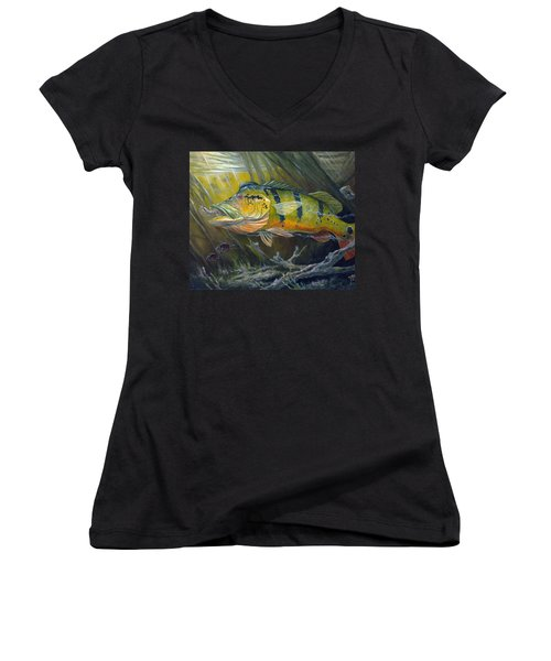 The Great Peacock Bass Women's V-Neck