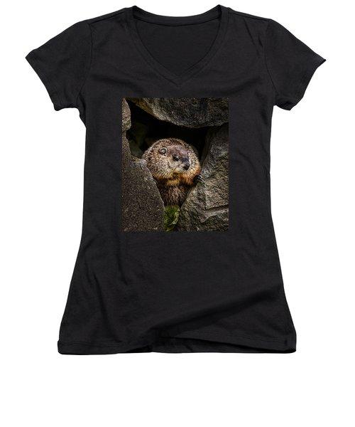 The Groundhog Women's V-Neck T-Shirt