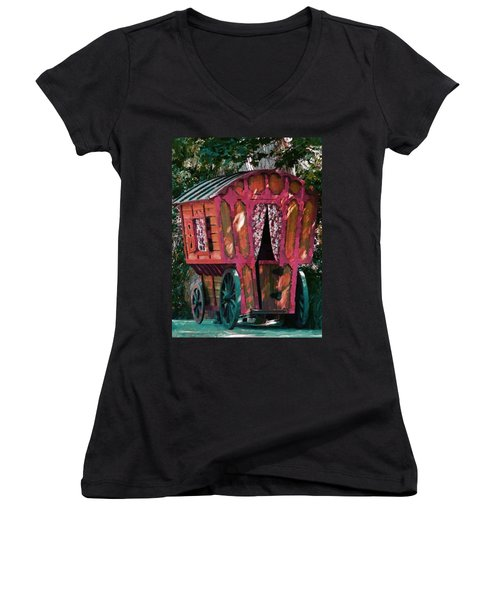 The Gypsy Caravan  Women's V-Neck T-Shirt