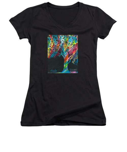 The Happy Tree Women's V-Neck (Athletic Fit)