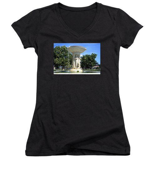 The Heart Of Dupont Circle Women's V-Neck T-Shirt (Junior Cut)