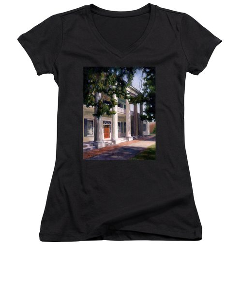 The Hermitage Women's V-Neck T-Shirt (Junior Cut) by Janet King