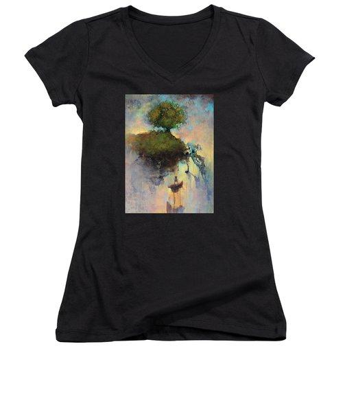 The Hiding Place Women's V-Neck T-Shirt (Junior Cut)