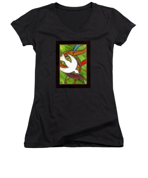 The Holy Spirit Women's V-Neck (Athletic Fit)