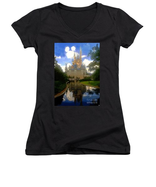 The House Of Cinderella Women's V-Neck T-Shirt