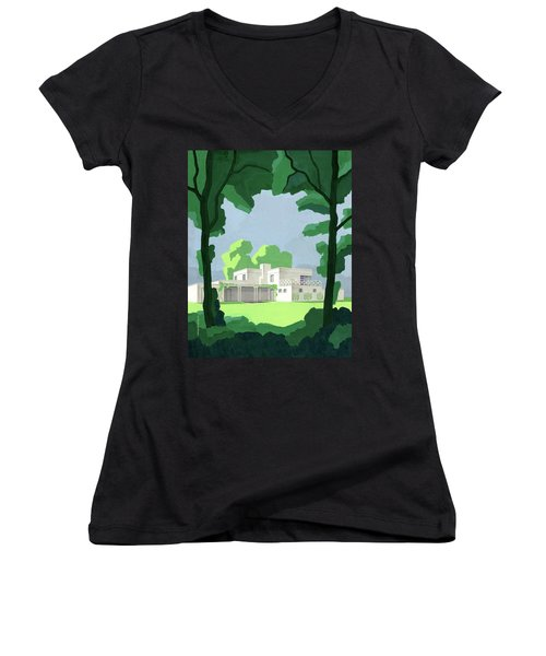 The Ideal House In House And Gardens Women's V-Neck