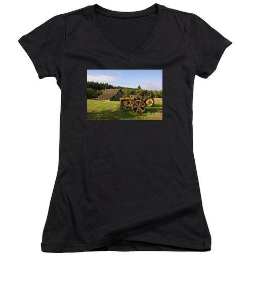 The Johnson Farm Women's V-Neck (Athletic Fit)