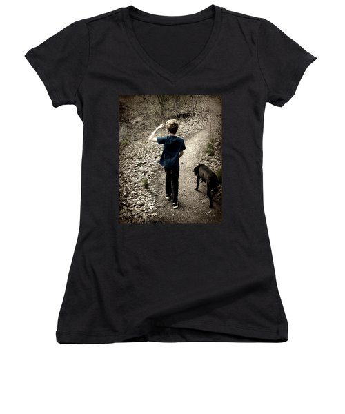 The Journey Together Women's V-Neck T-Shirt