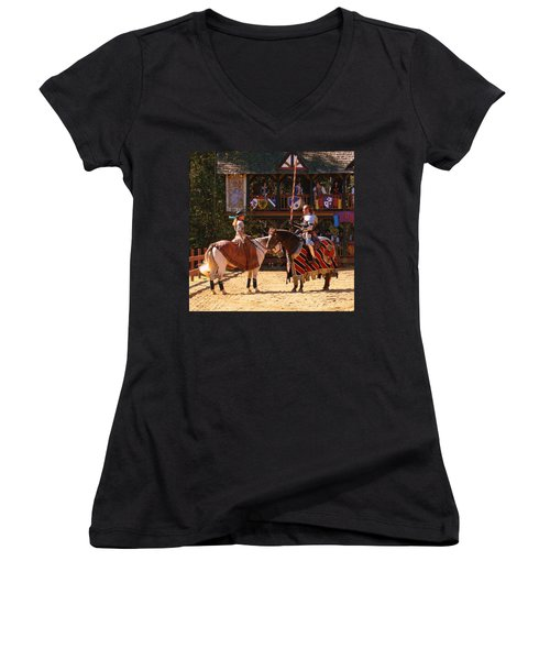 The Lady And The Knight Women's V-Neck