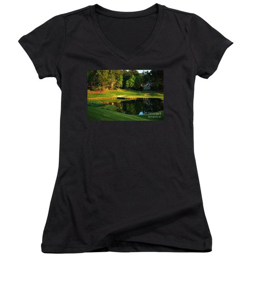 Golf At The Landing #3 In Reynolds Plantation On Lake Oconee Ga Women's V-Neck T-Shirt