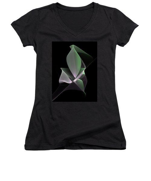 Women's V-Neck T-Shirt (Junior Cut) featuring the digital art The Light Inside by Gabiw Art