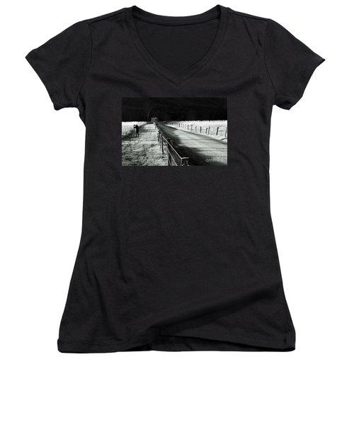 The Lone Photographer Women's V-Neck T-Shirt