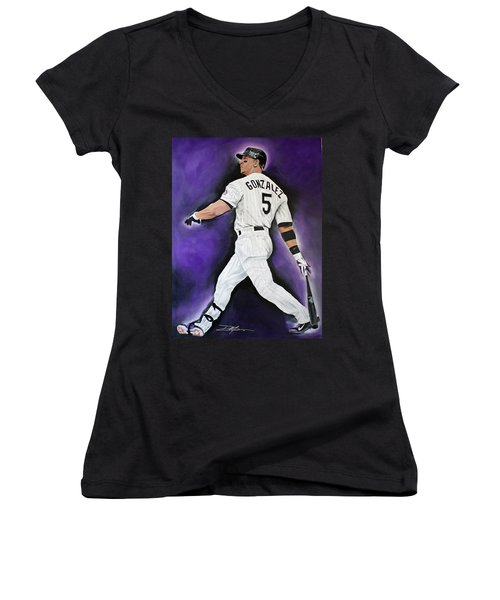 Carlos Gonzales Women's V-Neck T-Shirt