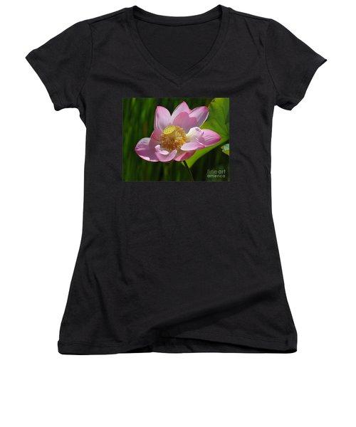 The Lotus Women's V-Neck T-Shirt (Junior Cut) by Vivian Christopher