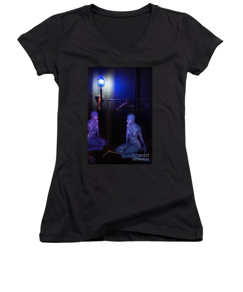 The Mermaids Dresser Women's V-Neck T-Shirt (Junior Cut) by Rosa Cobos