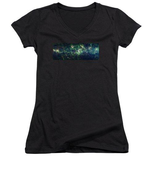 The Milky Way Women's V-Neck T-Shirt (Junior Cut) by Adam Romanowicz