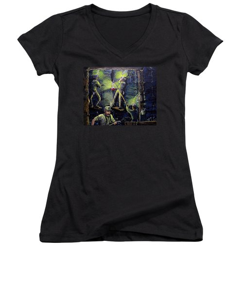 The Miners Way Women's V-Neck T-Shirt