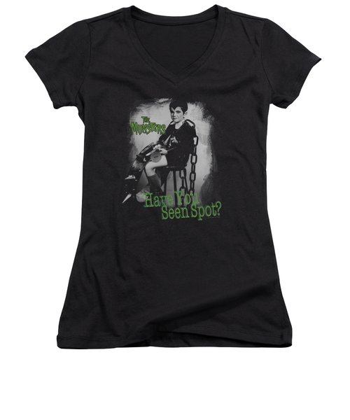 The Munsters - Have You Seen Spot Women's V-Neck T-Shirt