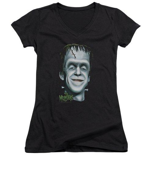 The Munsters - Herman's Head Women's V-Neck T-Shirt