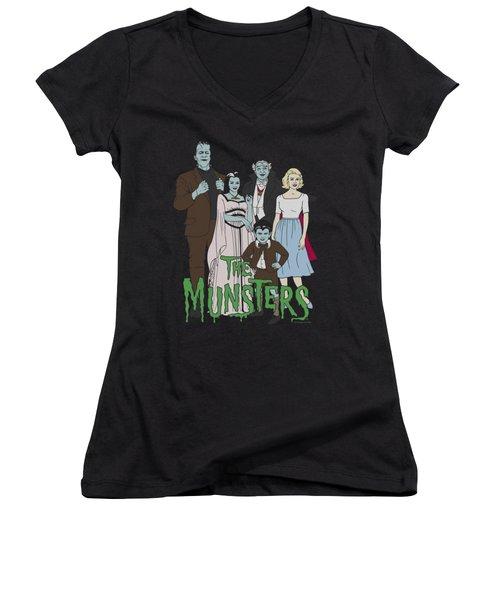 The Munsters - The Family Women's V-Neck T-Shirt