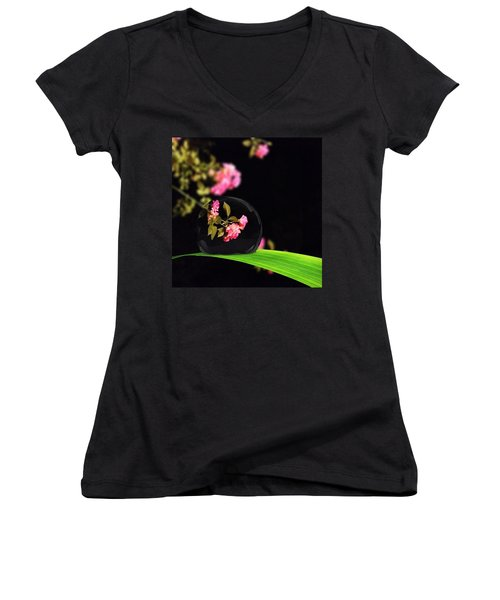 The Music Of The Night Women's V-Neck (Athletic Fit)