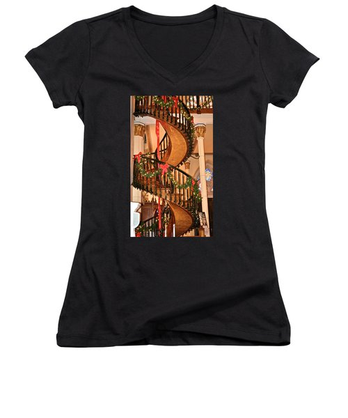 The Mysterious Miracle Staircase Women's V-Neck (Athletic Fit)