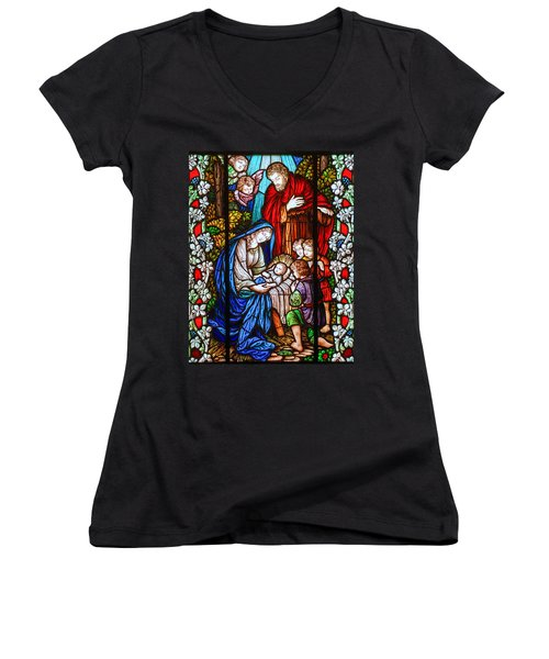The Nativity Women's V-Neck (Athletic Fit)