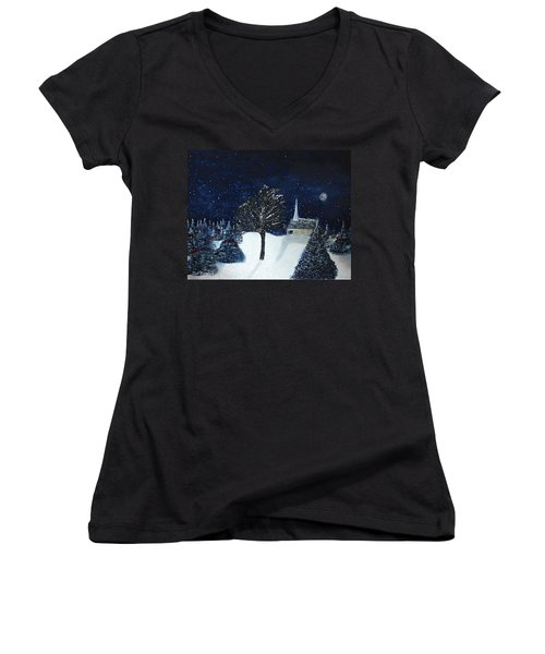 The Night Before Christmas Women's V-Neck T-Shirt