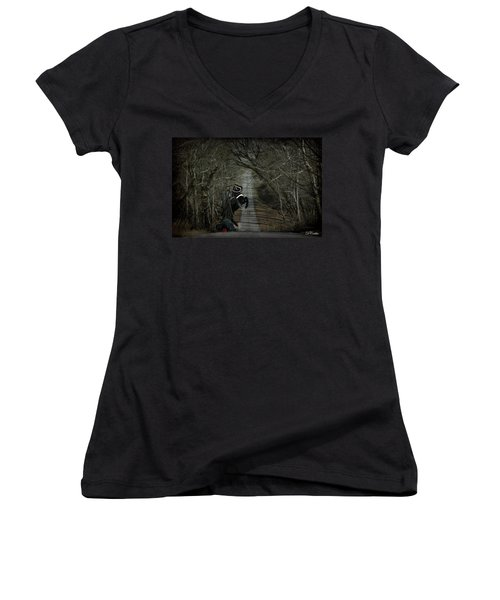The Nightmare Women's V-Neck (Athletic Fit)