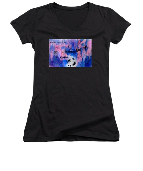 The Nineteen Sixties Women's V-Neck T-Shirt (Junior Cut) by Ian  MacDonald