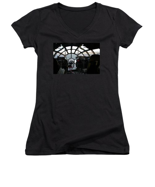 Women's V-Neck T-Shirt (Junior Cut) featuring the photograph The Office by David S Reynolds