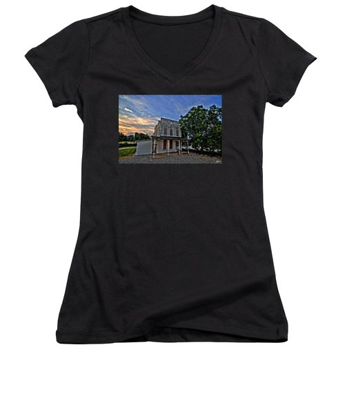 The Ol' Cotton Office Women's V-Neck T-Shirt (Junior Cut)