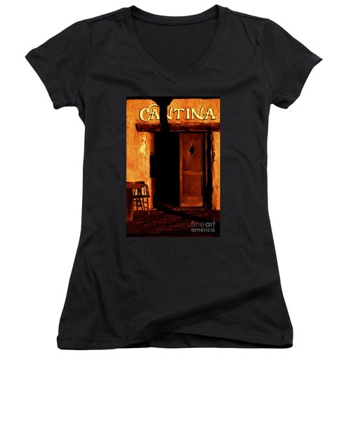 The Old Cantina Women's V-Neck T-Shirt (Junior Cut) by Paul W Faust -  Impressions of Light