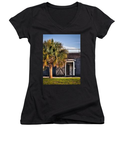 The Old Fort-color Women's V-Neck T-Shirt