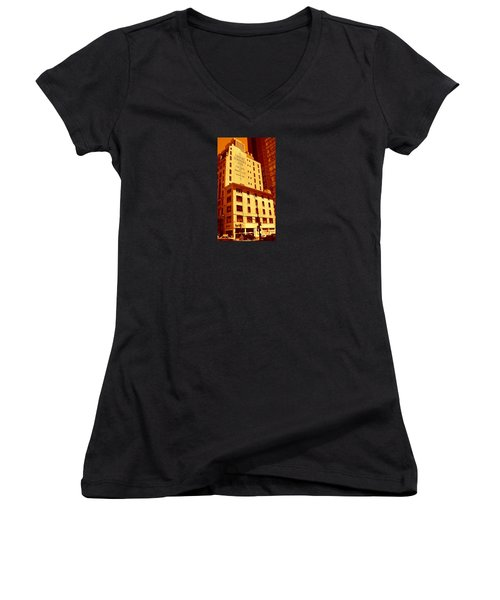The Old Good Days In Manhattan Women's V-Neck